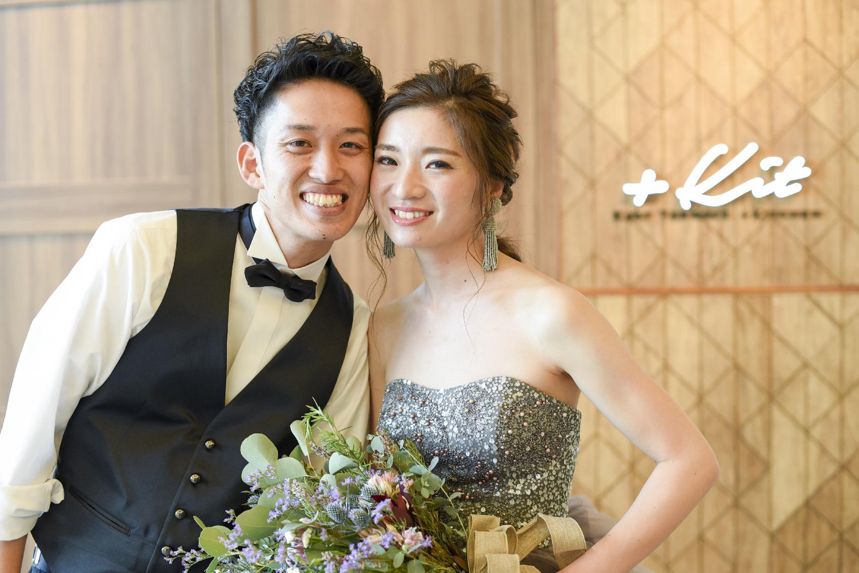 香川県高松市の結婚式場アナザースタイルで結婚式をされたおふたりのツーショット