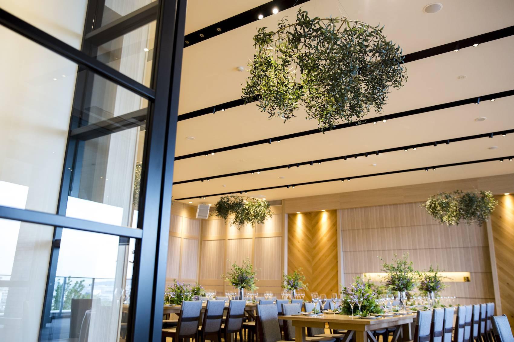 香川県高松市の結婚式場アナザースタイルのグリーンコーディネート