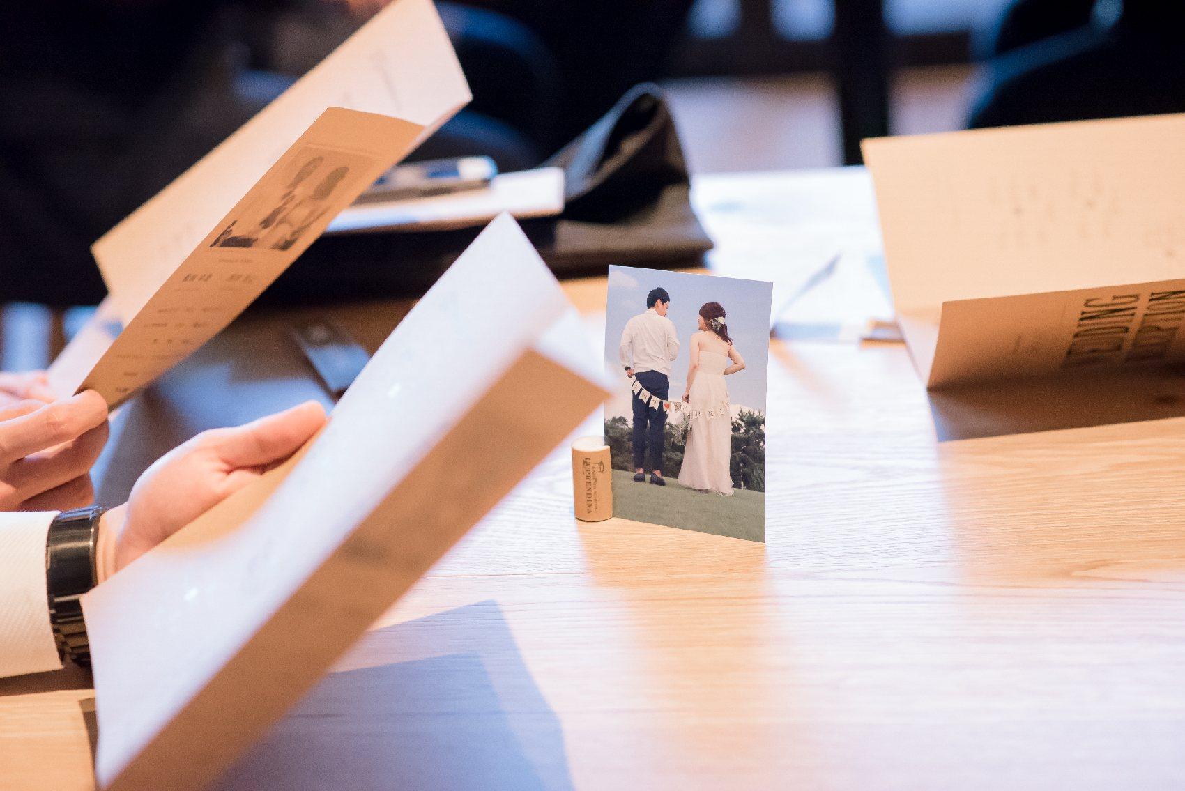 香川県高松市の結婚式場アナザースタイルの席札のペーパーアイテム