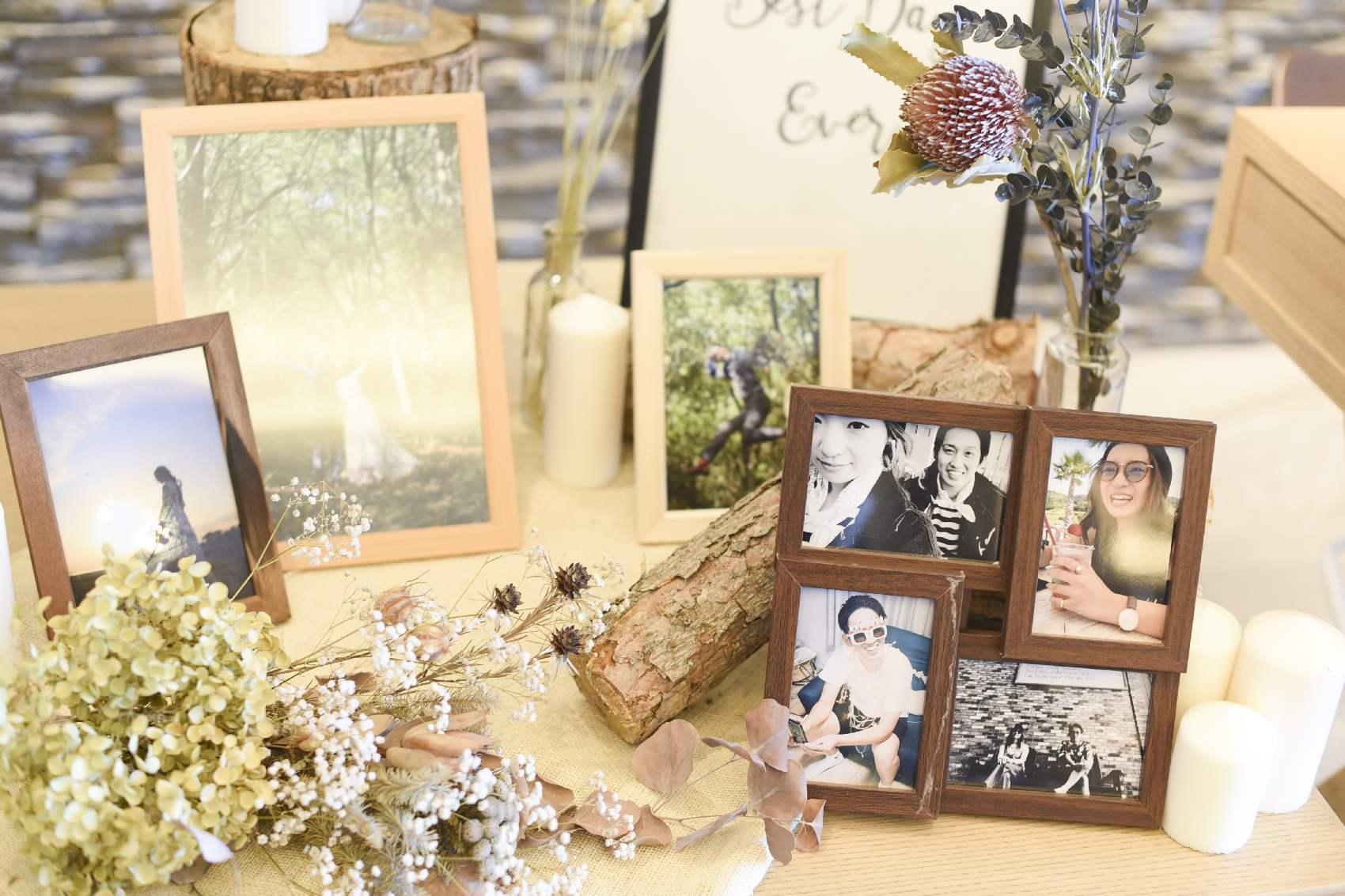 高松市の結婚式場アナザースタイルの結婚式の受付けの装飾