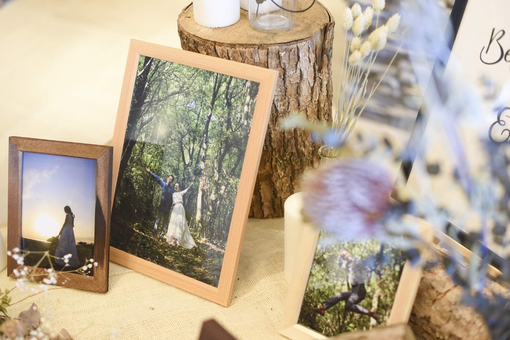 高松市の結婚式場アナザースタイルの結婚式で使用したオリジナルのフォトフレーム