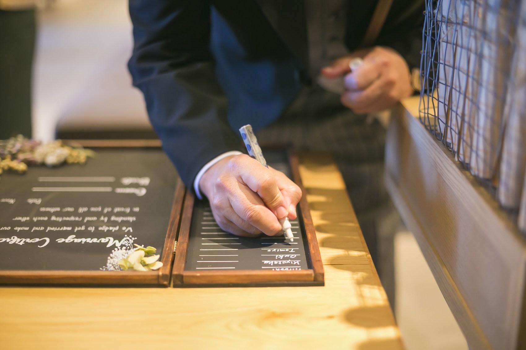 香川県高松市の結婚式場アナザースタイルの手作りの結婚証明書