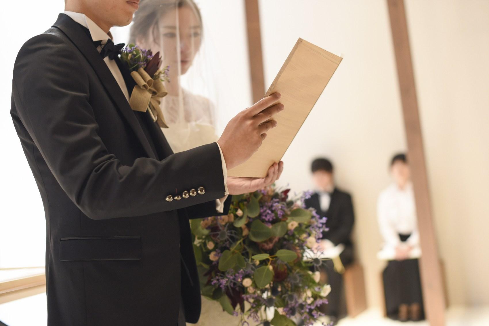 香川県高松市の結婚式場アナザースタイルのチャペルで誓いの言葉