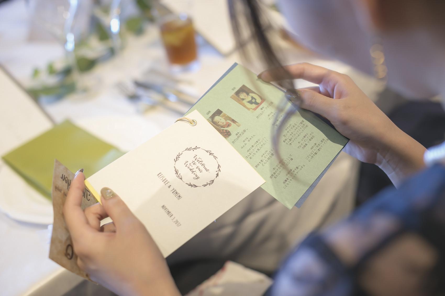 香川県高松市の結婚式場アナザースタイルのオリジナルの席札