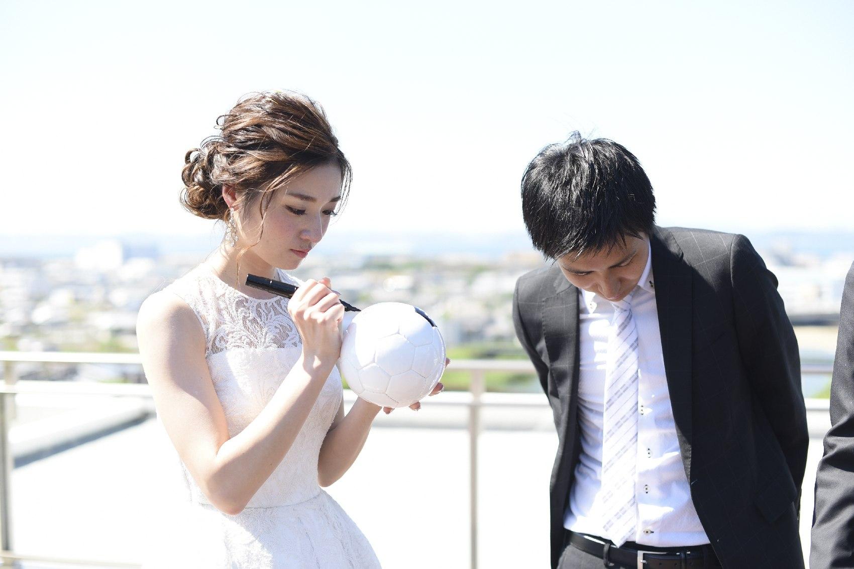 香川県高松市の結婚式場アナザースタイルのテラスでの演出