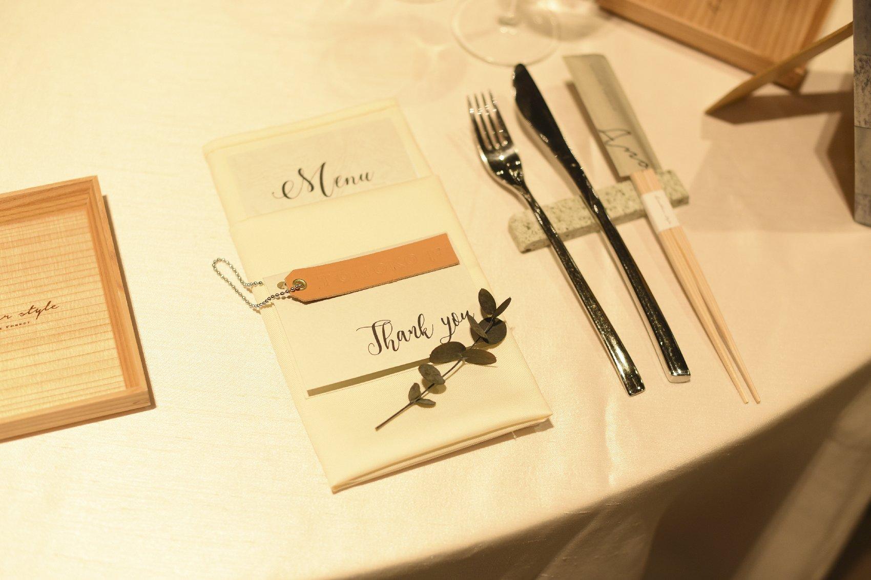 香川県高松市の結婚式場アナザースタイルの結婚式の席札