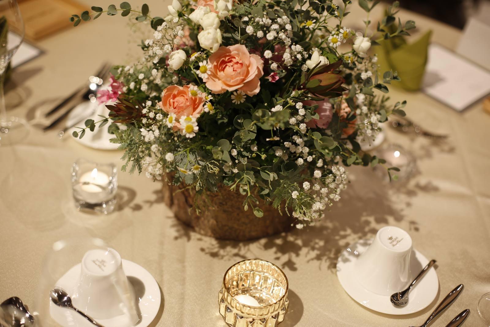 香川県高松市の結婚式場アナザースタイルのナチュラルな会場コーディネート