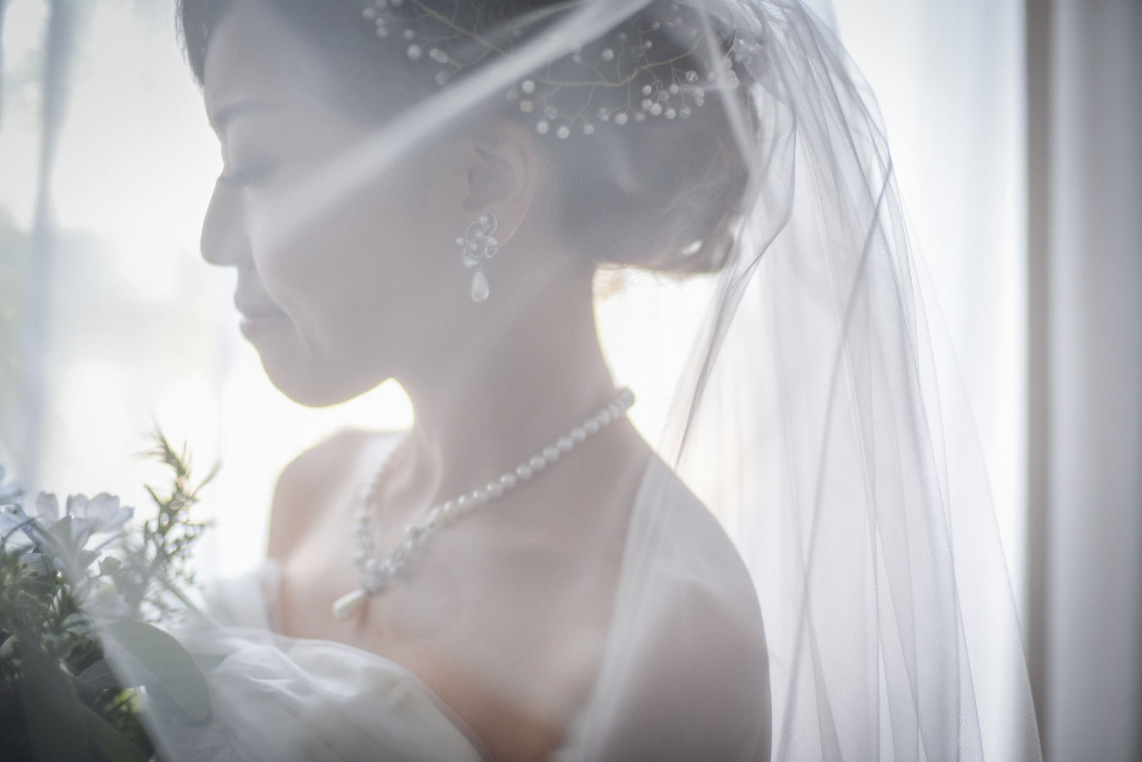 香川県高松市の結婚式場アナザースタイルのブライズルームでのショット