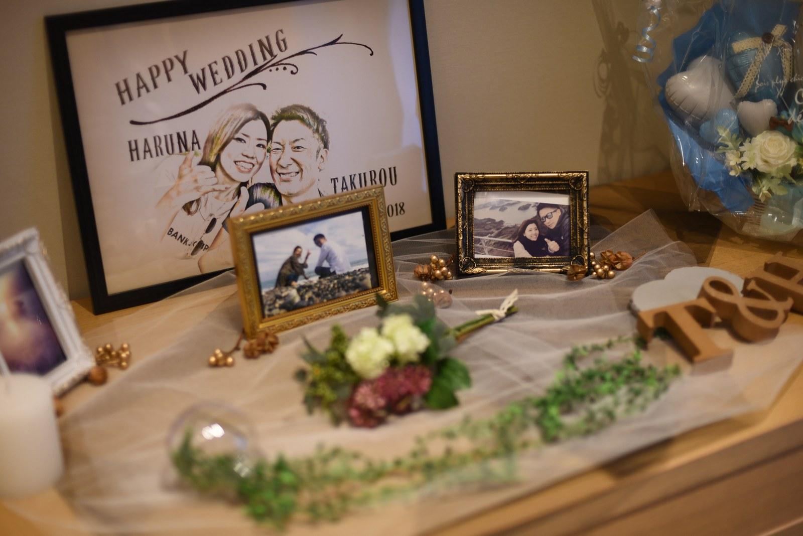 香川県高松市の結婚式場アナザースタイルの受付装飾