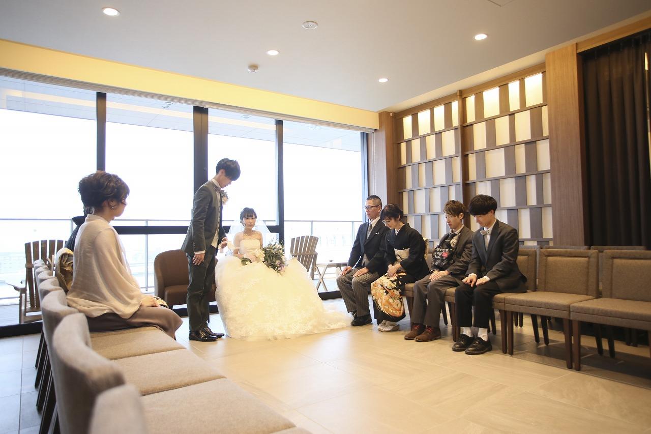 香川県高松市の結婚式場アナザースタイルで家族がひとつになる対面式