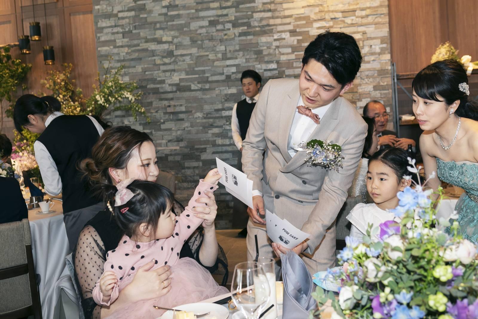 高松市の結婚式場アナザースタイルの披露宴会場でフォトタイム