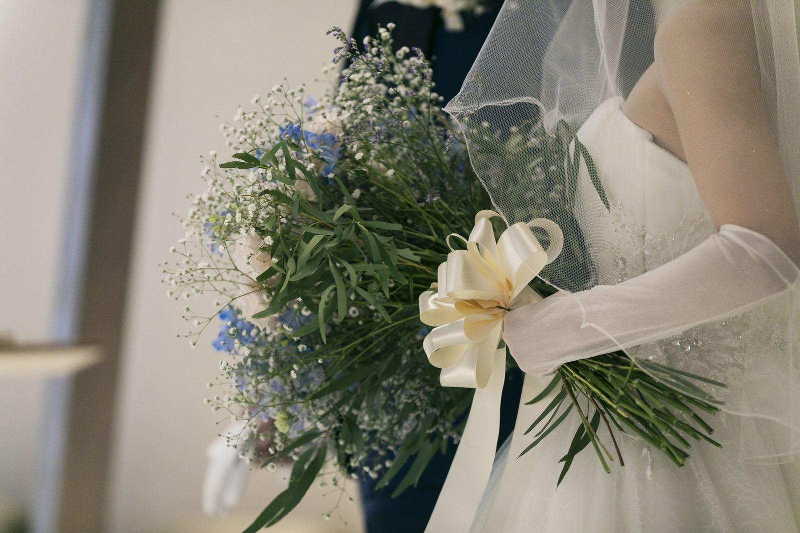 香川県高松市の結婚式場アナザースタイルのナチュラルなブーケ